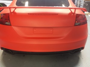 Trunk Wrap in 3M Matte Red