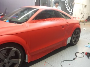 Driver Side Wrap In Progress